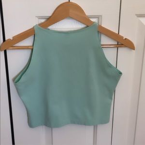 American Apparel Tops - American Apparel Menthe Green Crop Top Sz L